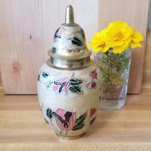 Cloissone Ginger Jar.